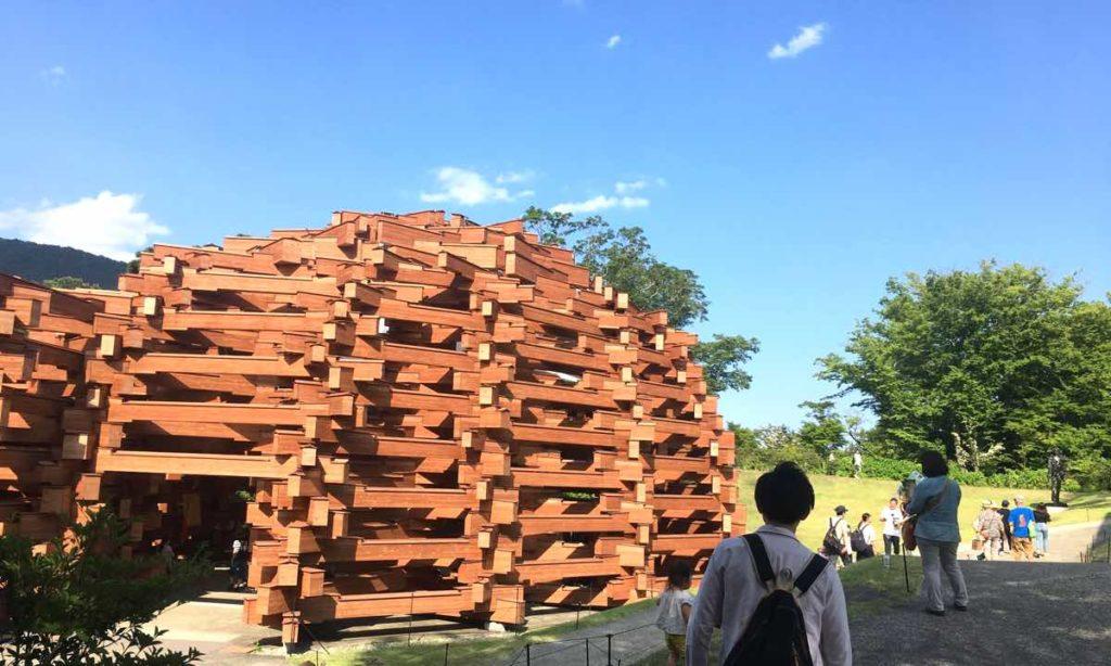 彫刻の森美術館のネットの森の外観