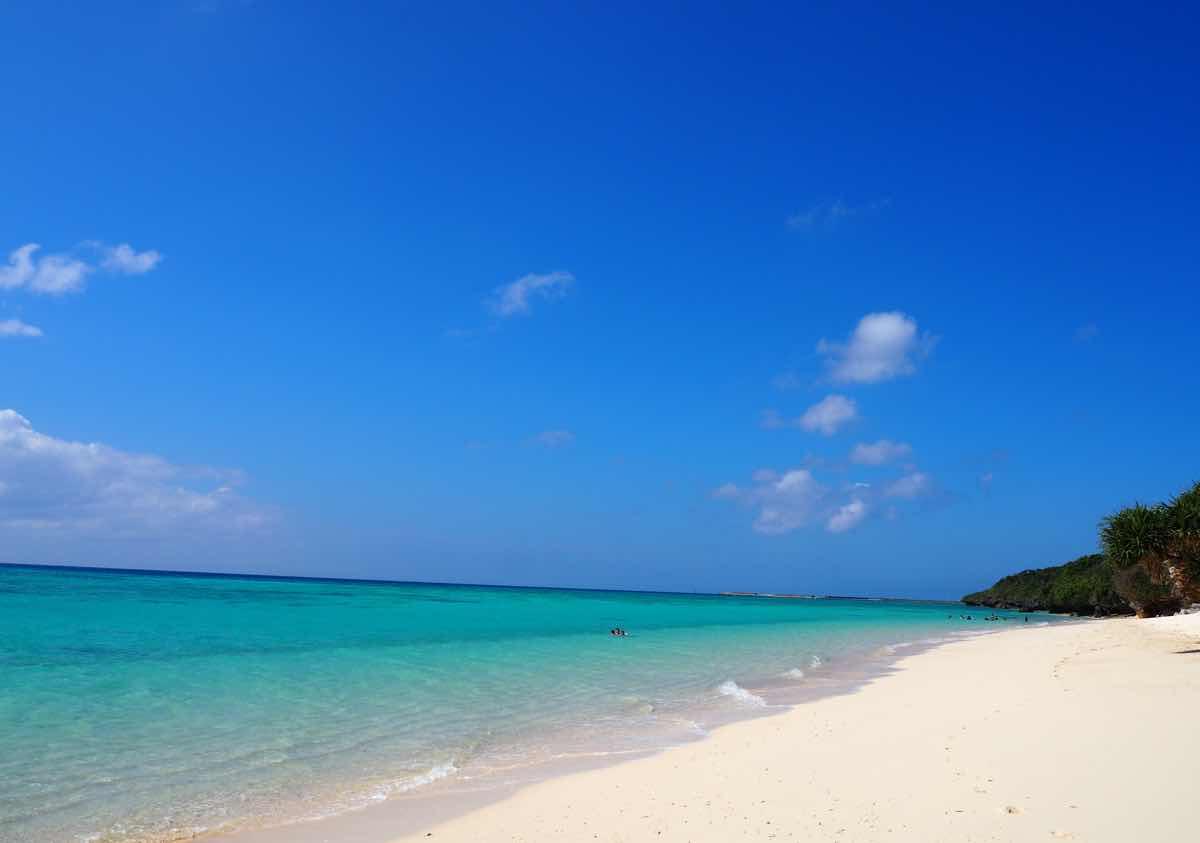伊江島のGIビーチの遠影