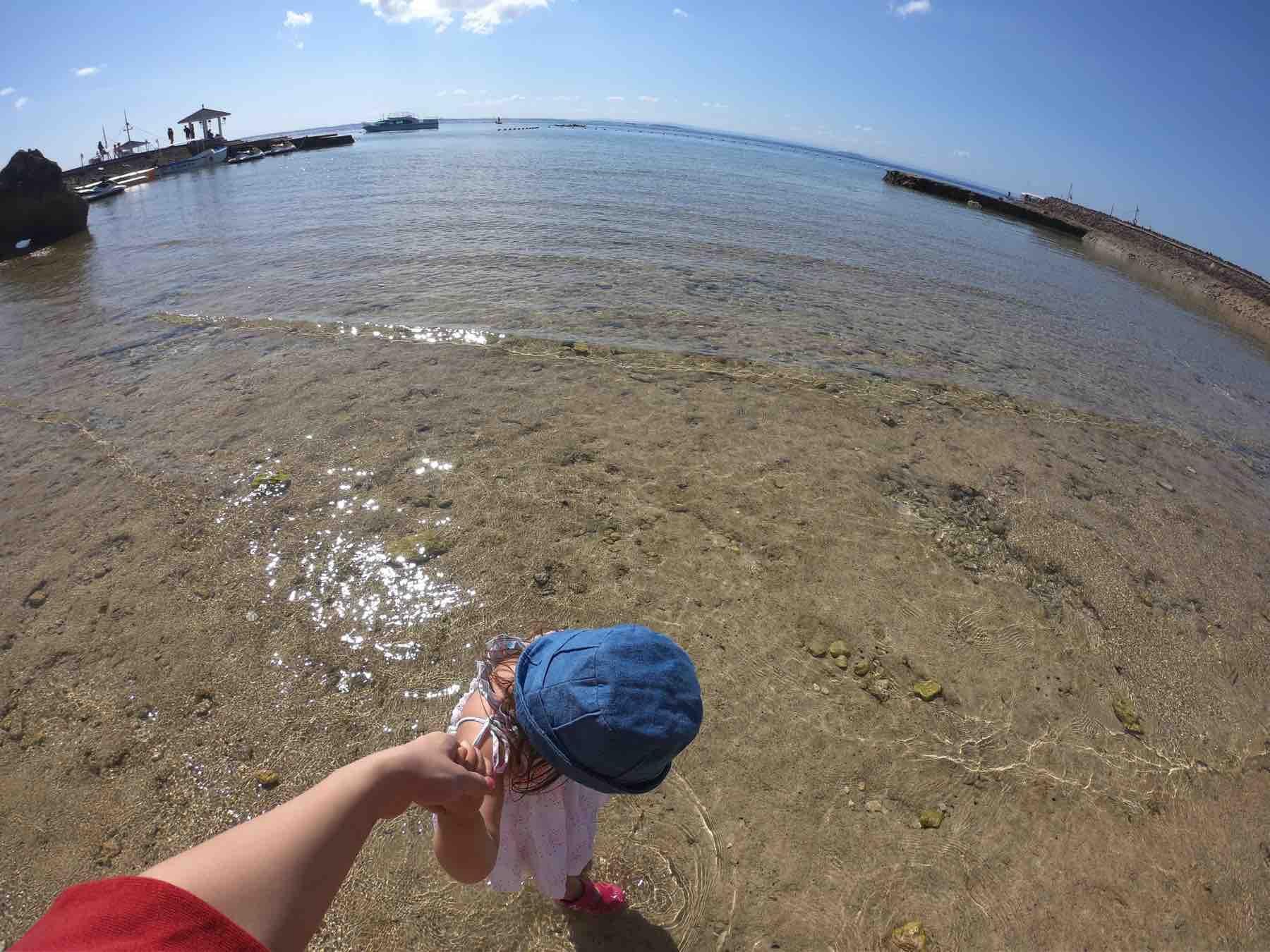 プランテーションベイのプライベートビーチ